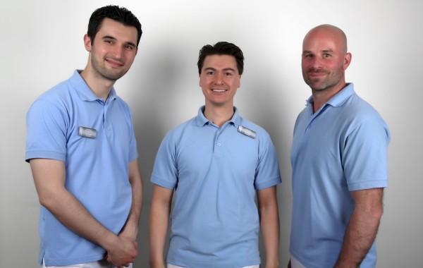 Taner, Eric en Oscar